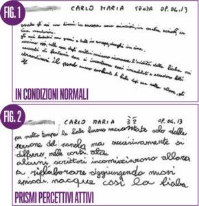 Lenti prismatiche per problemi disgrafia