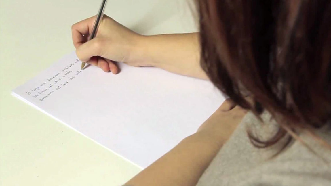 Scrivere a mano